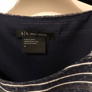 Armani Exchange Blue and White dress